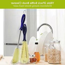 """2 Pack Bottle Brush Cleaner -16"""" 10""""Bottle Cleaning Brush Fl"""