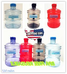 BPA FREE 1 Gallon Reusable Plastic Drinking Water Bottle Jug