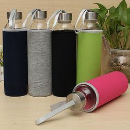 BPA Free Glass Sport Water Bottle with Tea Filter Infuser Pr