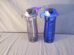 Pogo BPA-Free Plastic Water Bottle with Flip Straw 32 oz 2 P