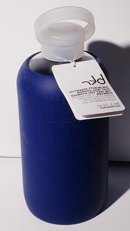 bkr BPA-Free Silicone Sleeve Glass Water Bottle, 32oz/1L- Bl