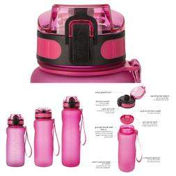 BPA Free Sports Water Bottle Big Capacity Wide Mouth Fitness