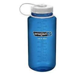 NALGENE Tritan Wide Mouth 32oz Water Bottle - Blue w/ White