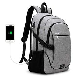 Business Backpack, S.K.L Basic Laptop Backpack with USB Char