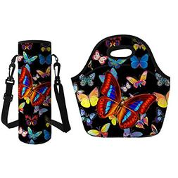 Mumeson Butterfly Print Neoprene Thermos Insulated Lunch Tot