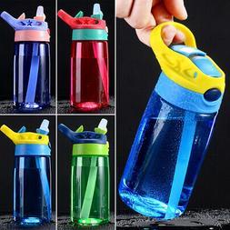 Children Plastic Drinking Cup 480ML Leak Proof Sports Water