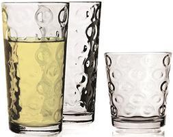 Circleware 44094 Huge Set Highball Tumbler Drinking Glasses