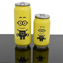 KOLLOX Cola Can Stainless Steel Water Bottle Yellow Minion I