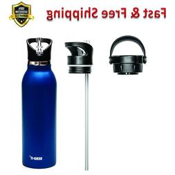 Coldest Water Bottle with Straw Stainless Steel BPA Free Dis