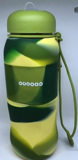 Collapsible, Foldable, Safe Silicone Drinking Water Bottle-