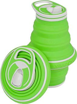 HYDAWAY Collapsible Pocket-sized Travel Water Bottle - 21 oz