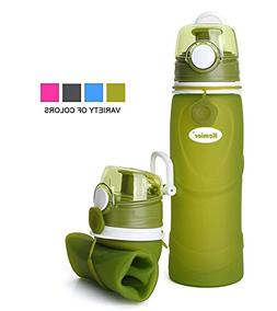 Kemier Collapsible Silicone Water Bottles-750ML,Medical Grad
