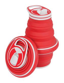 Hydaway Collapsible Water Bottle 21oz Red NEW!!!