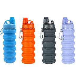 Collapsible Water Bottle 550ml Leak Proof Silicone Foldable