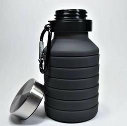Collapsible Water Bottle Collapsable Portable Outdoor Retrac