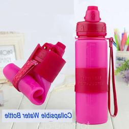 Collapsible Water Bottle Fordable Silicon 500ml Leak Proof B