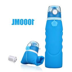 SbuyCoo Collapsible Water Bottle Leak Proof Valve Bottles wi