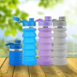 AUTENS Collapsible Water Bottle Silicon 550ml Leak Proof, BP