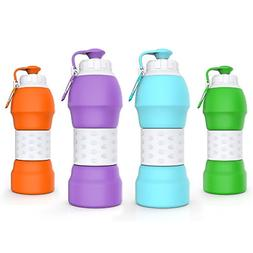 Travel Collapsible Water Bottle Accessories Silicone Mug LAR