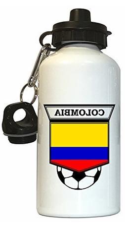 Colombian Soccer Water Bottle White - Colombia
