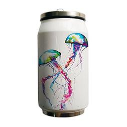 Kdnsgfds Colourful Jellyfish illustration Double Vacuum Insu