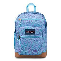 JanSport Cool Student Laptop Backpack - Blue Marble Chevron