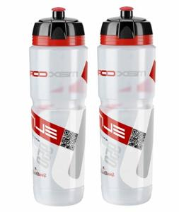 Elite Corsa Maxi Water Bottles - Clear/Red, 950ml/ea
