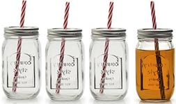 Circleware 67025 Country Mason Jar Mug Beverage Drinking Gla