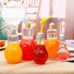 Creative Bulb Water Bottle Clear Cute Milk Juice Light Bulbs