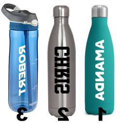 Custom Waterbottle Name Decal Stickers | Personalized Bottle