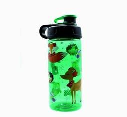 Cute Green Water Bottle for Kids- Cool Gear