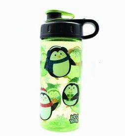 Cute Lime Green Penguin Water Bottle for Kids- Cool Gear
