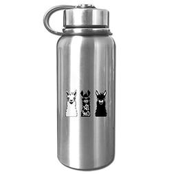 Pyuang Cute Llama Stainless Steel Water Bottle Insulated Vac
