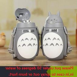 Cute Totoro Thermo Cup Travel Mug Glass Liner Kids Water Bot