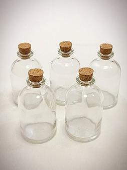 """Ben Collection 3"""" Decorative Round Glass Bottle with Cork To"""
