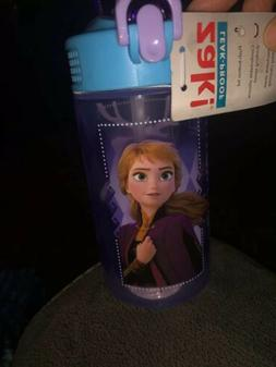 Disney Frozen II water bottle with push button spout detacha