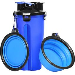 Dog Water Bottle Bowls for Traveling Pet Food Container 2 in