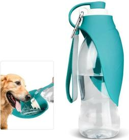Travel pet  Water Bottle with Silicone Foldable Bowl 20 OZ O