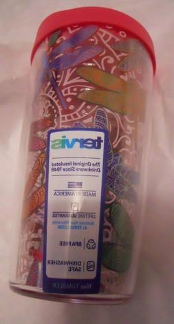 Tervis Dragonfly Mandala 16oz Water Bottle Pink BPA Free *ne