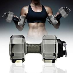 Dumbbell Shaped Sports Water Cup Bottle Kettle Fit Outdoor D