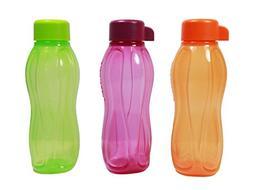 Tupperware Eco Drink Water Bottle in Orange Purple Lime  310