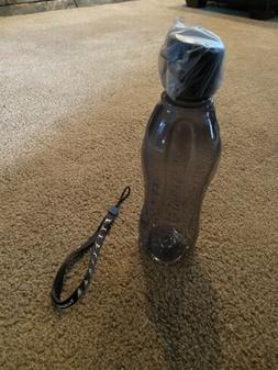 Tupperware Eco Twist Water Bottle w/ Flip top Seal Black Sma