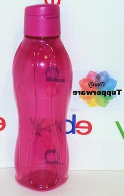 Tupperware Eco Water Bottle 36 oz Large 1 Liter Flip-Top Fuc