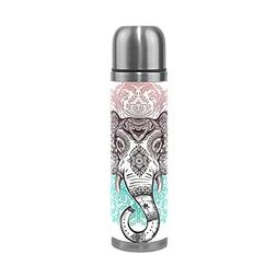 ALAZA Elephant Stainless Steel Water Bottle Double Wall Vacu