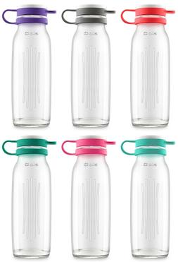 Ello Elsie BPA-Free 22 oz Glass Water Bottle, 6 Colors