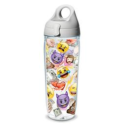 Tervis EMOJI All Over Collage Wrap Clear Inner 24oz Water Bo