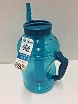 Cool Gear EZ Freeze Travel Water Bottle with Handle, Straw &