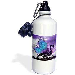 3dRose Fairytale Dragon, Sports Water Bottle, 21oz