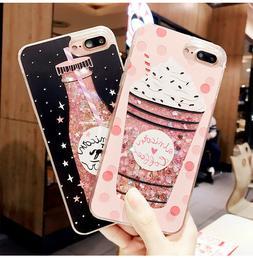 Fashion Cute Drink Bottle Ice Cream Glitter phone case for i