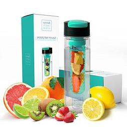 Savvy Infusion Flip Top Fruit Infuser Water Bottle - 24 Ounc